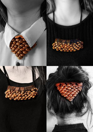 Unique Pine Cone DIY Necklace