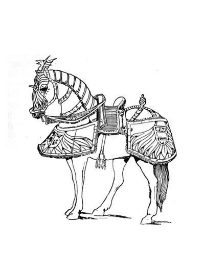 Armored Horses Coloring Page Favecrafts Com
