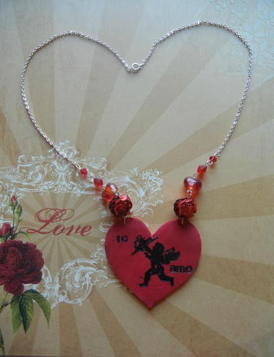 Stamped Heart DIY Pendant