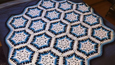 Winter Blizzard Snowflake Crochet Afghan