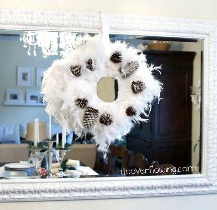 Festive Feather DIY Christmas Wreath