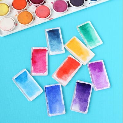 Watercolor Brushstroke Homemade Magnets