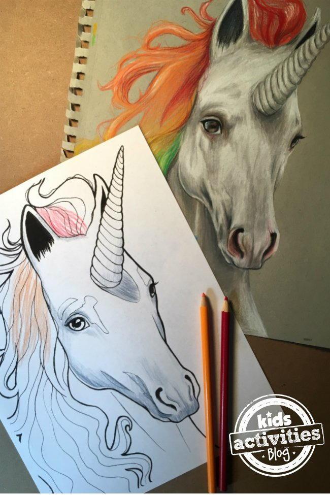 Unicorn Coloring Page   FaveCrafts.com