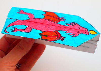 Dragon Glider Printable Paper Craft for Kids