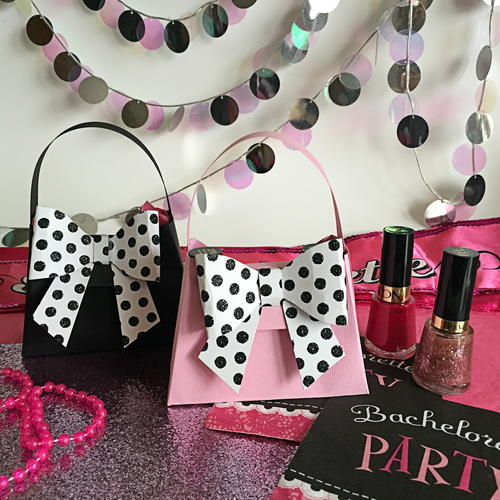 Paper Purse DIY Favor Boxes