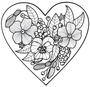 All My Love Adult Coloring Page | FaveCrafts.com