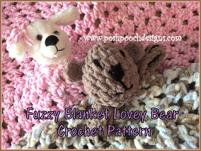 Fuzzy Blanket Lovey Bear