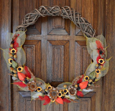 Natures Bounty DIY Fall Wreath