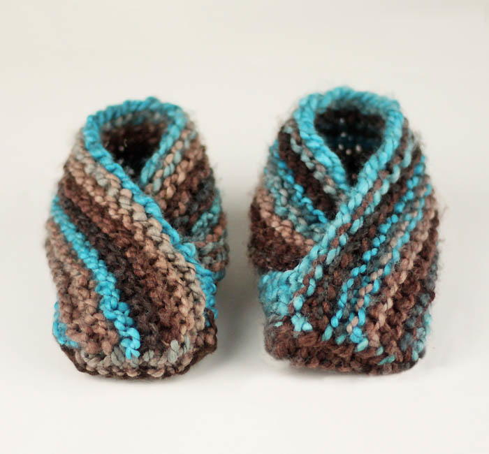 World S Easiest Toddler Knit Slippers Allfreeknitting Com