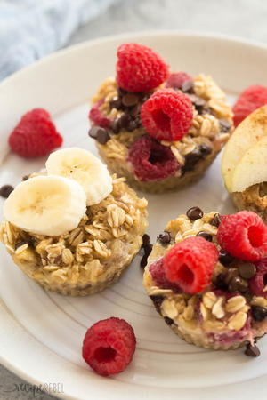 4 Ingredient Baked Oatmeal Cups