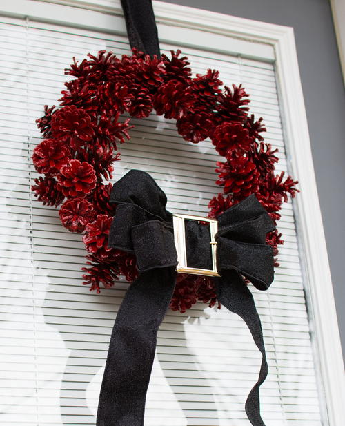 DIY Santa Holiday Wreath
