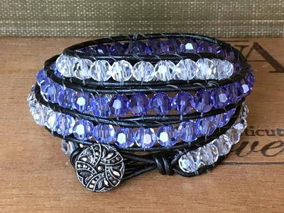 Ombre Beaded Wrap Bracelet