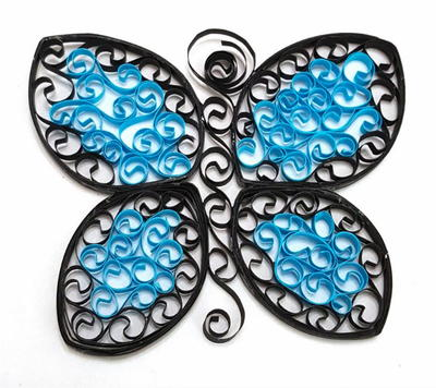 Fluttering Quilled Paper Butterfly