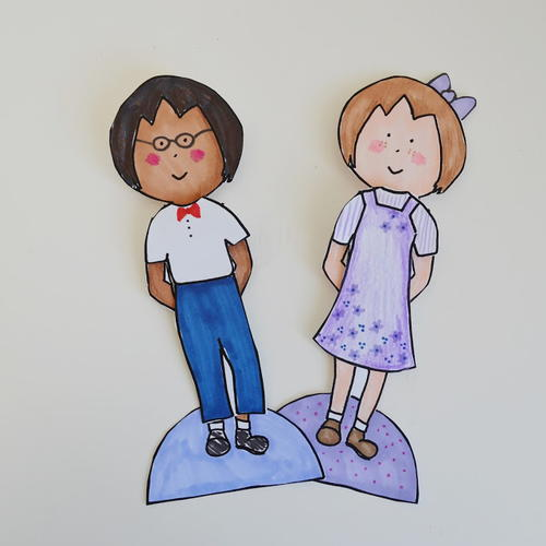 Unisex Printable Paper Doll Template