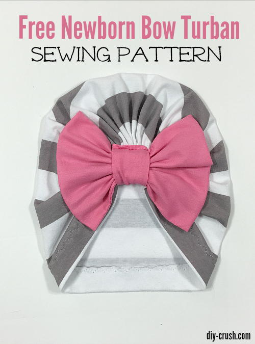 Baby Bow Turban Beanie Pattern