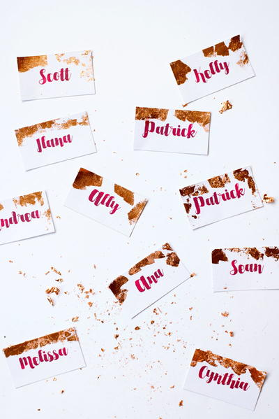 Easy Copper Foil Place Cards