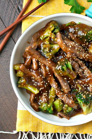 One Skillet Mongolian Beef with Broccoli