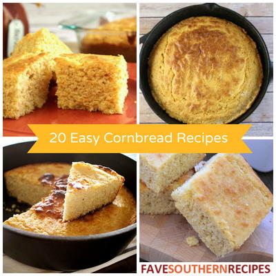 20 Easy Cornbread Recipes The Best Southern Cooking Recipes for Cornbread