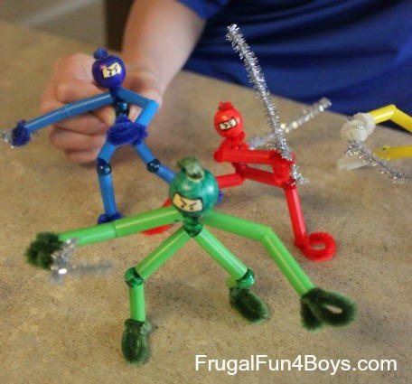 Fun Pipe Cleaner Ninja Craft
