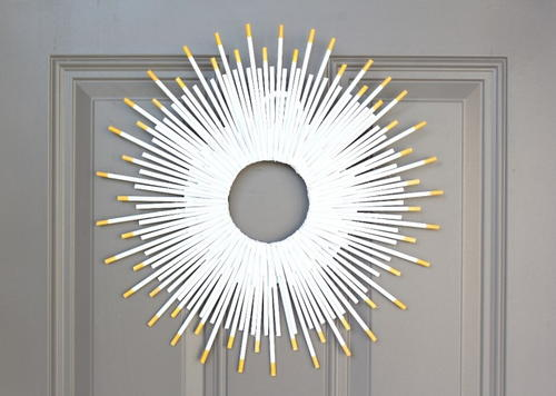 Easy 5 Sunburst DIY Wreath