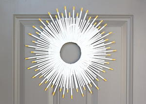 Easy $5 Sunburst DIY Wreath