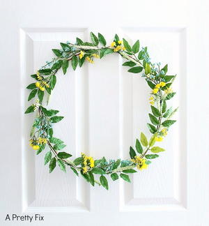 Spring Wildflower DIY Wreath