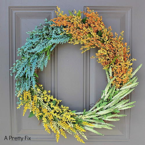 Faux Flower DIY Wreath