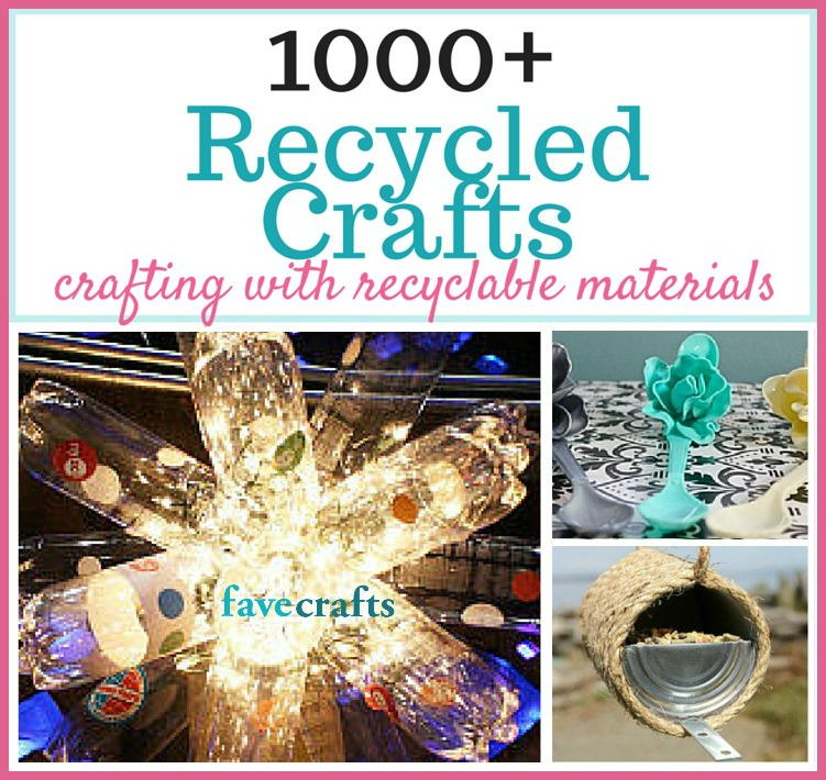 1000 recycled crafts and projects for Project using recyclable items