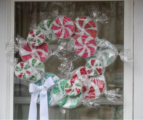 Sweetest Peppermint DIY Wreath