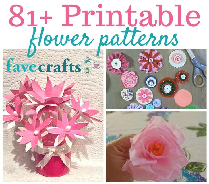 81 printable flower patterns favecraftscom