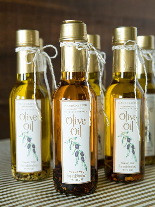 Infused Olive Oil Favors
