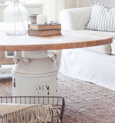 Milk Can Easy DIY Table