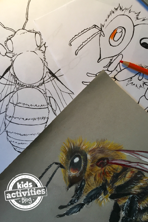 Honey Bee Coloring Pages | FaveCrafts.com