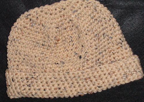 Mens Simple Crochet Hat