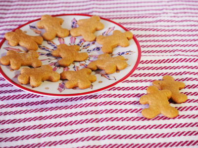 Mini Gingerbread Men Cake Mix Cookies