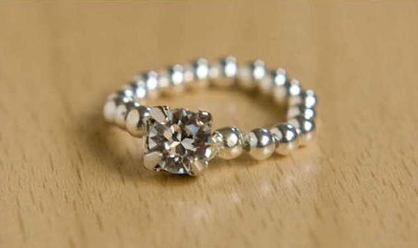 Elastic DIY Diamond Ring