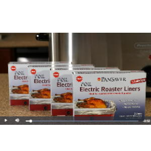 Using the PanSaver Electric Roaster Liner
