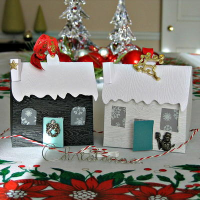 Happy Holiday Home Paper Ornaments