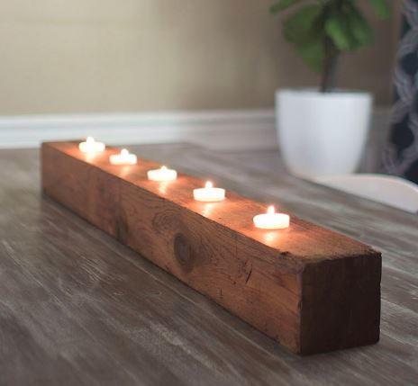 Rustic Diy Tea Light Candle Holder Diyideacenter Com