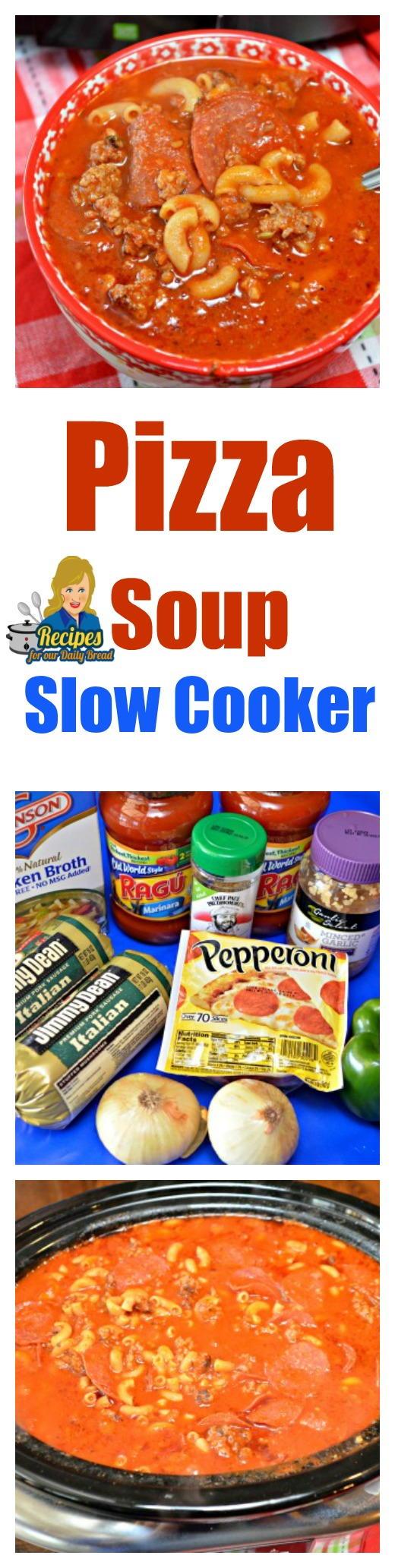Kid Friendly Slow Cooker Pizza Soup | RecipeLion.com