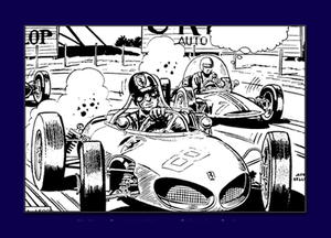 Classic Race Car Coloring Page
