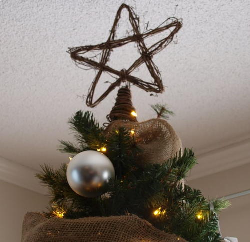 PB Inspired Rattan Star Christmas Tree Topper
