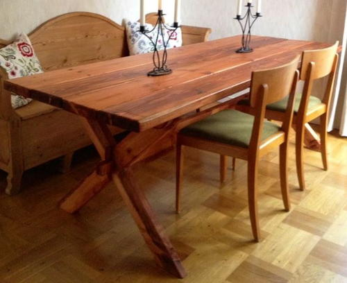 Rustic diy pallet dining table for Diy dining table