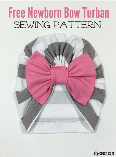 Baby Bow Turban Beanie Sewing Pattern  b9d0c3a7e3b