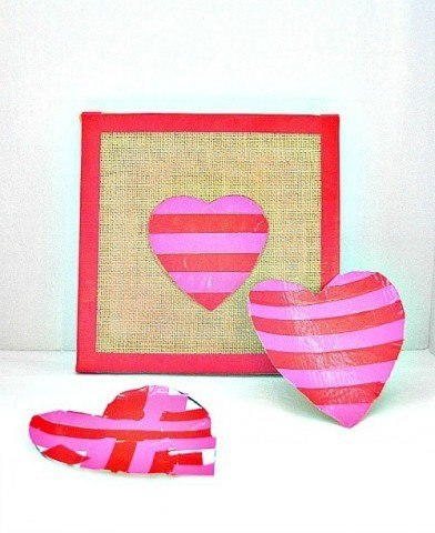 Easy Duct Tape Heart