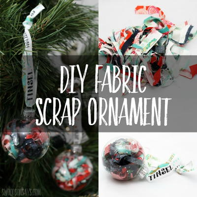 DIY Fabric Scrap Ornament