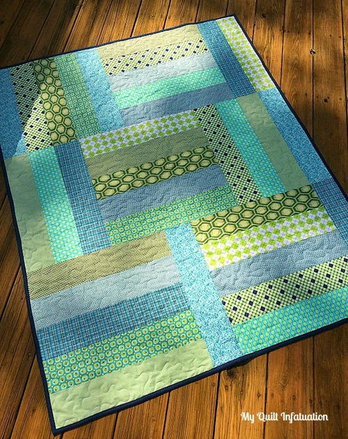 Afternoon Tango Baby Quilt Tutorial