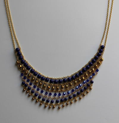 Beaded Multistrand Statement Necklace