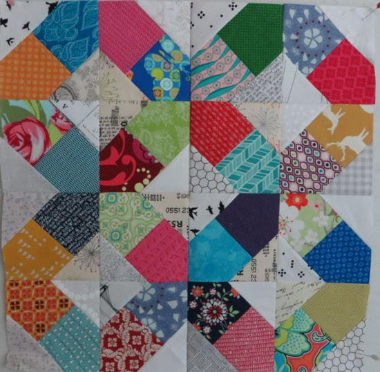 Quilting Designs On Paper : Split Hatchet Paper Piecing Pattern FaveQuilts.com