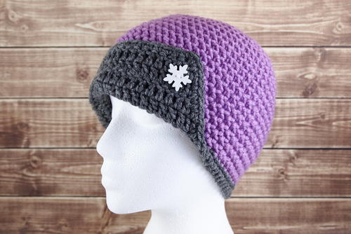 Cosmic Flapper Crochet Hat